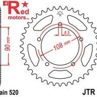 Foaie/pinion spate JTR18.39 520 cu 39 de dinti pentru MZ/MUZ Skorpion 660