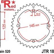 Foaie/pinion spate JTR1857.39 520 cu 39 de dinti pentru SMC/Barossa Black Hawk 250, Yamaha YFM 250, YFM 350