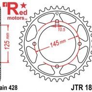 Foaie/pinion spate JTR1874.56 428 cu 56 de dinti pentru Yamaha XVS 125, XVS 250