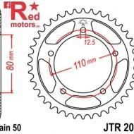 Foaie/pinion spate JTR2010.44 530 cu 44 de dinti pentru Triumph Adventurer 900, Daytona 750, 900, 1000, 1200, Sprint 900