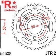 Foaie/pinion spate JTR279.31 520 cu 31 de dinti pentru Honda CMX 250, VT 125