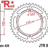 Foaie/pinion spate JTR839.52 428 cu 52 de dinti pentru Yamaha DT 125, WR 125