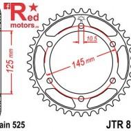 Foaie/pinion spate JTR867.44 525 cu 44 de dinti pentru Yamaha TDM 850
