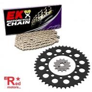 Kit lant premium EK QX-Ring 520 SRX2 pentru Kawasaki ER-6f (EX650 A6F,A7F,A8F,B6F,B7F,B8F,D9F,DAF,DBF) 2006-2011