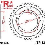 Foaie/pinion spate JTR1304.38 525 cu 38 de dinti pentru Honda CB 600 F Hornet