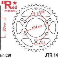Foaie/pinion spate JTR1478.36 520 cu 36 de dinti pentru Kawasaki ZX-10R 1000, ZX-6R 600, Polaris Scrambler 500