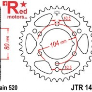 Foaie/pinion spate JTR1478.43 520 cu 43 de dinti pentru Kawasaki ZX-6R 600, Polaris Scrambler 500, Polaris Trail Boss 330