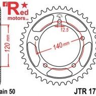 Foaie/pinion spate JTR1797.41 530 cu 41 de dinti pentru Suzuki GSX 1400