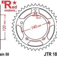 Foaie/pinion spate JTR1800.47 520 cu 47 de dinti pentru Suzuki GSF 1200