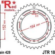 Foaie/pinion spate JTR1839.55 428 cu 55 de dinti pentru Yamaha SR 400