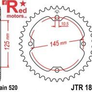Foaie/pinion spate JTR1857.40 520 cu 40 de dinti pentru SMC/Barossa Black Hawk 250, Yamaha YFM 250, YFM 350