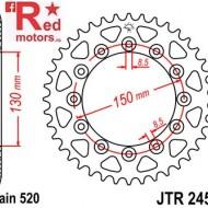 Foaie/pinion spate JTR245/2.46 520 cu 46 de dinti pentru Gilera RC 600, Honda CB 250, NX 250