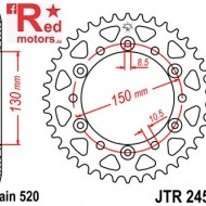 Foaie/pinion spate JTR245/3.45 520 cu 45 de dinti Honda FMX 650
