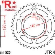 Foaie/pinion spate JTR498.40 525 cu 40 de dinti pentru Kawasaki W 650, ZR 750, ZX-6R 600