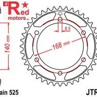 Foaie/pinion spate JTR6.47 525 cu 47 de dinti pentru BMW