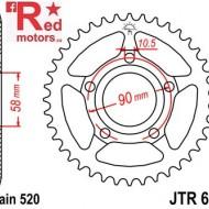 Foaie/pinion spate JTR604.35 520 cu 35 de dinti pentru Honda NSR 125