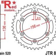 Foaie/pinion spate JTR822.49 520 cu 49 de dinti pentru Beta RR 350 4T, 250 4T, 450 Enduro