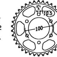 FOAIE SPATE JT 48 DINTI (JTR827) - SUZUKI GSX-R1100K/L