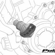 Crash pad-uri/Buloane R12 pentru Honda CB600F HORNET 2012 - PUIG