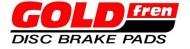 Placute frana spate GOLDfren S3 52.7x53x3x8.7 pentru Suzuki GSX 600, GSX 750, GSX 1100, VX 800