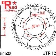Foaie/pinion spate JTR1209.41 520 cu 41 de dinti pentru Honda NSR 250