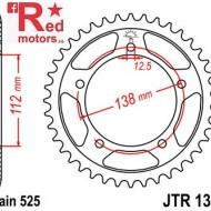 Foaie/pinion spate JTR1304.39 525 cu 39 de dinti pentru Honda CB 600