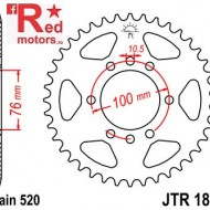 Foaie/pinion spate JTR1825.43 520 cu 43 de dinti pentru Suzuki DR 500, GN 400, GSX-R 1100, GSX-R 750, LT 500