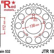 Foaie/pinion spate JTR1873.48 532 cu 48 de dinti pentru Yamaha YZF-R6 600