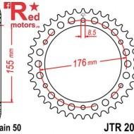 Foaie/pinion spate JTR2011.45 530 cu 45 de dinti pentru Triumph Daytona 955, Speed Triple 955, 1050