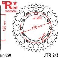 Foaie/pinion spate JTR245/2.41 520 cu 41 de dinti pentru Honda CB 250, CL 250, NX 250