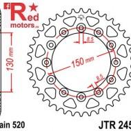 Foaie/pinion spate JTR245/2.49 520 cu 49 de dinti pentru Gilera RC 600, Honda CB 250, NX 250