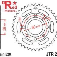 Foaie/pinion spate JTR279.42 520 cu 42 de dinti pentru Honda CB 200, CMX 250, VT 125