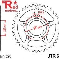 Foaie/pinion spate JTR604.36 520 cu 36 de dinti pentru Honda NSR 125
