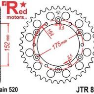 Foaie/pinion spate JTR853.45 520 cu 45 de dinti pentru Yamaha YZ250, YZ125, YFZ350, YFM660, XT500, TT600,