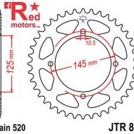 Foaie/pinion spate JTR857.39 520 cu 39 de dinti pentru Yamaha TT 600, XT 550, XT 600