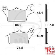 Placute frana fata STANDARD TRW 84.9x44.1x7/74.5x40.9x7 pentru Honda AFS 110 2SH, CSF