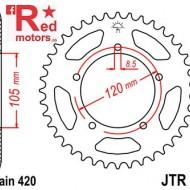 Foaie/pinion spate JTR24.50 420 cu 50 de dinti pentru Aprilia RX 50, Generic TR 50