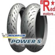Set anvelope/cauciucuri moto Michelin Power 5 120/70 ZR17 58W + 180/55 ZR17 73W