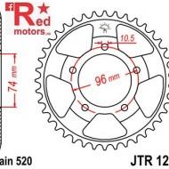 Foaie/pinion spate JTR1209.42 520 cu 42 de dinti pentru Honda NSR 250