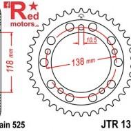 Foaie/pinion spate JTR1314.39 525 cu 39 de dinti pentru Honda CBR 400