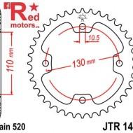 Foaie/pinion spate JTR1415.38 520 cu 38 de dinti pentru Dinli Dinli 450, Kawasaki KFX 450, Masai A 450