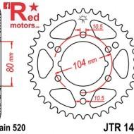 Foaie/pinion spate JTR1478.42 520 cu 42 de dinti pentru Kawasaki ZX-10R 1000, ZX-6R 600, Polaris Scrambler 500