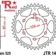 Foaie/pinion spate JTR1489.42 525 cu 42 de dinti pentru Kawasaki KLZ 1000, Z 1000