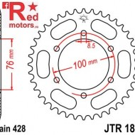 Foaie/pinion spate JTR1844.48 428 cu 48 de dinti pentru Yamaha MT 125, YZF-R 125