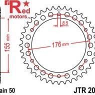 Foaie/pinion spate JTR2011.42 530 cu 42 de dinti pentru Triumph