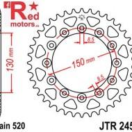 Foaie/pinion spate JTR245/2.52 520 cu 52 de dinti pentru Gilera RC 600, Honda CB 250, NX 250