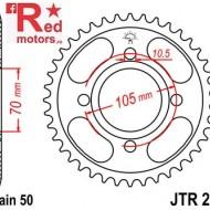 Foaie/pinion spate JTR278.37 530 cu 37 de dinti pentru Honda CB 250, CB 350, CB 400