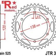 Foaie/pinion spate JTR312.38 525 cu 38 de dinti pentru Honda RVF 400, RVF 750