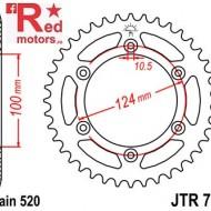 Foaie/pinion spate JTR735.42 520 cu 42 de dinti pentru Ducati Monster 600,  888 888, 907 900