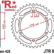 Foaie/pinion spate JTR839.53 428 cu 53 de dinti pentru Yamaha DT 125, WR 125